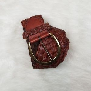Express leather braided belt